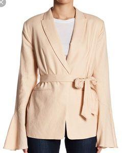 Free People Jackets & Coats - NWT Free People Flared Sleeve Linen Blazer